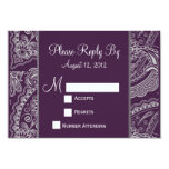 Elegant Paisley RSVP for Wedding Invitations