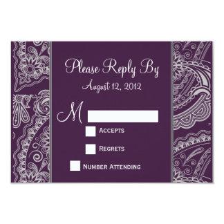Elegant Paisley RSVP for Wedding Invitations
