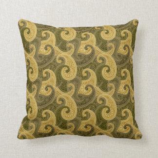 Elegant Paisley Throw Pillow