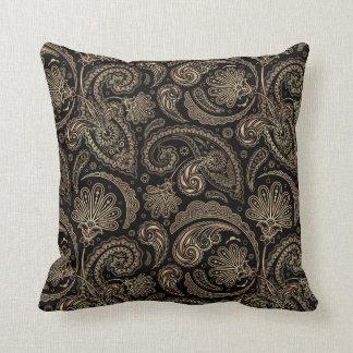 Elegant Paisley Vintage Damask Flowers Floral Throw Pillow