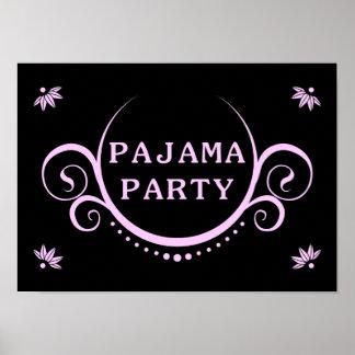 elegant pajama party invitation poster