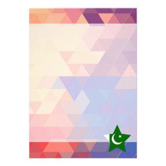 "Elegant Pakistan flag heart 5"" X 7"" Invitation Card"