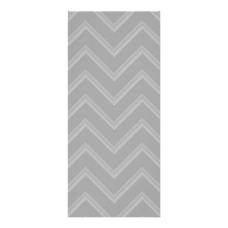 Elegant pale gray chevron pattern background rack card