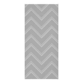 Elegant pale gray chevron pattern background full color rack card