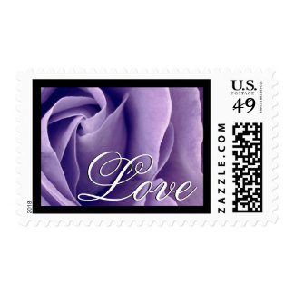 Elegant PALE PURPLE Love Rose Wedding Stamp