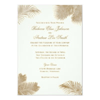 Elegant Palm Invitation