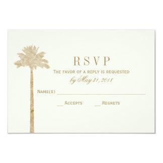 "Elegant Palm RSVP Card 3.5"" X 5"" Invitation Card"