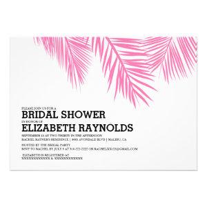 Elegant Palm Tree Beach Bridal Shower Invitations Personalized Announcement