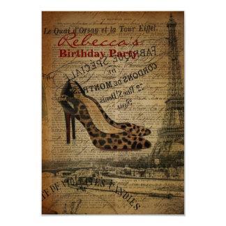 elegant paris french  vintage birthday party personalized invitations