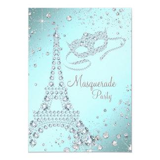 Elegant Paris Masquerade Party Card