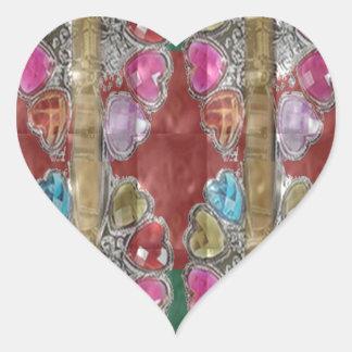 Elegant Party Gifts USA Fashion America NewJersey Heart Sticker