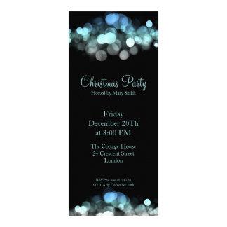 Elegant Party Invitation Blue Shimmering Lights Invitation