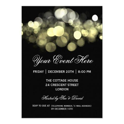 Elegant Party Invitation Gold Black