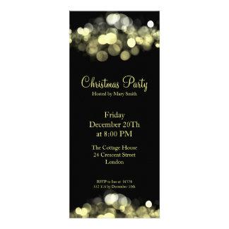 Elegant Party Invitation Gold Shimmering Lights Personalized Invitation