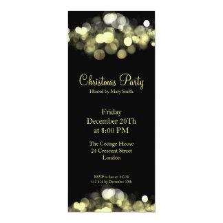 Elegant Party Invitation Gold Shimmering Lights