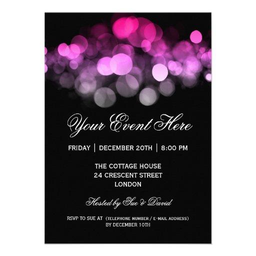 Elegant Party Invitation Pink Black