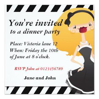 """Elegant party Invitation Square 5.25"""" Square Invitation Card"""