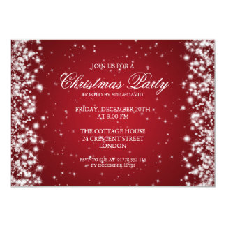 Elegant Party Sparkle Red 4.5x6.25 Paper Invitation Card