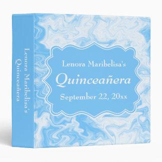 Elegant Pastel Blue Quinceanera Binder