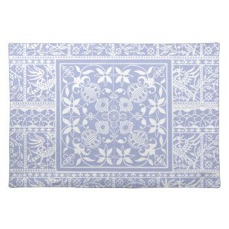 Elegant Pastel Blue Renaissance Lace Cloth Placemat