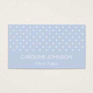 Elegant Pastel Blue White Polka Dot Spot Pattern Business Card