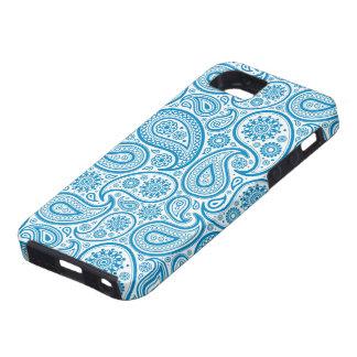 Elegant Pastel Blue & White Vintage Paisley Patter iPhone SE/5/5s Case