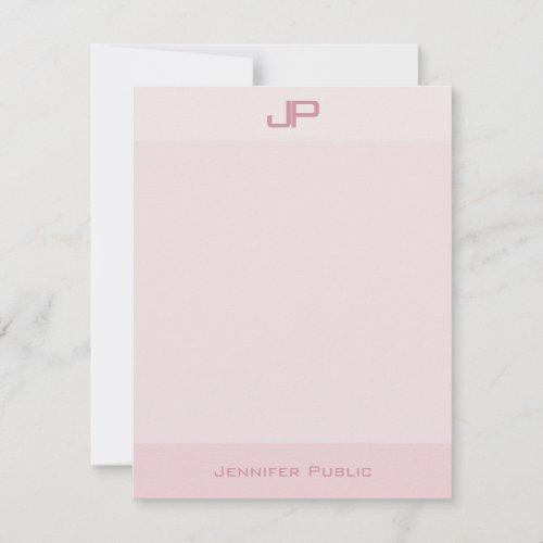 Elegant Pastel Colors Monogram Simple Modern Note Card