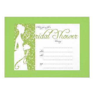 Elegant pastel green bridal shower invitation