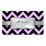 Elegant Pastel Lavender and Black Chevron Pattern Double-Sided Standard Business Cards (Pack Of 100)