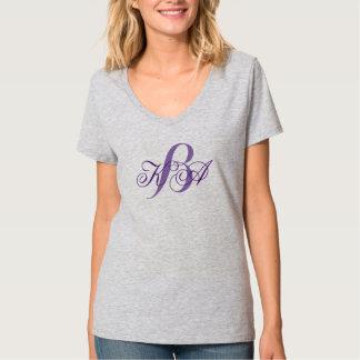 elegant pastel lilac purple monograms bridesmaid T-Shirt