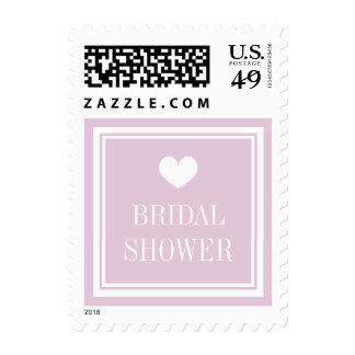 Elegant pastel pink bridal shower postage stamps