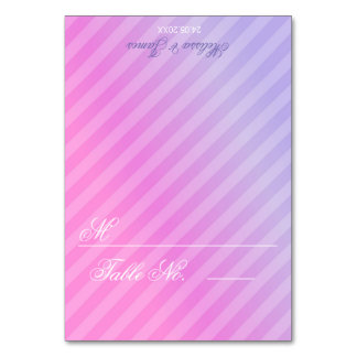 Elegant Pastel Pink Lilac Table Card