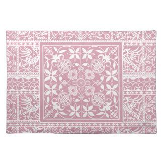 Elegant Pastel Pink Renaissance Lace Placemat