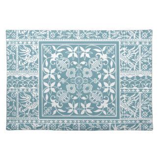 Elegant Pastel Sea Green Renaissance Lace Cloth Placemat