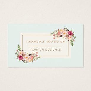 Wedding bouquet business cards templates zazzle elegant pastel watercolor floral boutique decor business card junglespirit Gallery