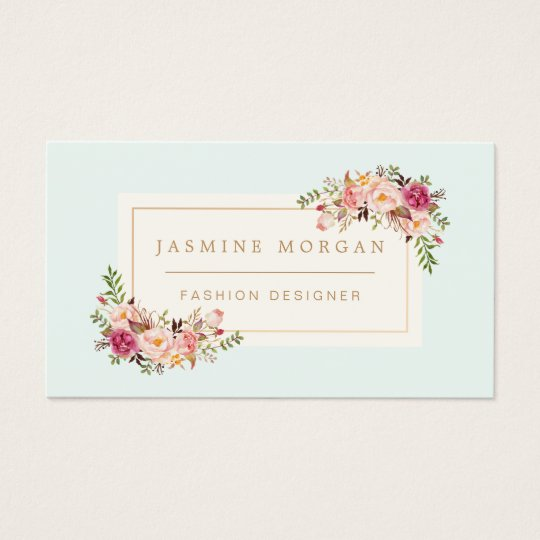 elegant pastel watercolor floral boutique decor business