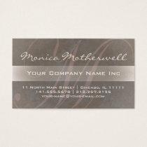 Elegant Patina Pink and Taupe Monogram M Business Card