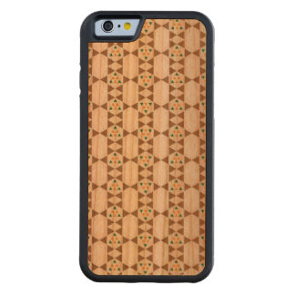 Elegant pattern carved cherry iPhone 6 bumper case
