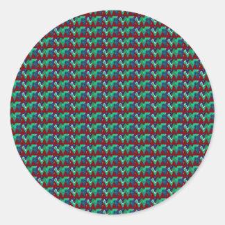 Elegant Pattern Colorful giveaway return+gifts FUN Round Sticker