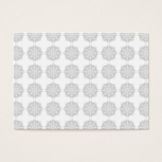 Elegant pattern, light gray and white. business card