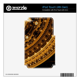 Elegant pattern of curves and beads decals for iPod touch 4G