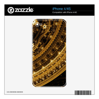 Elegant pattern of curves and beads skin for the iPhone 4S