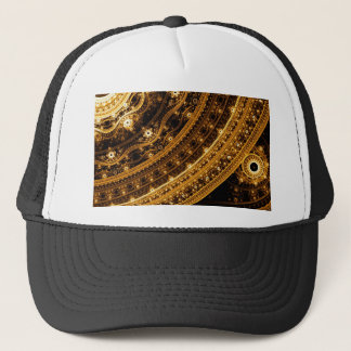Elegant pattern of curves and beads trucker hat