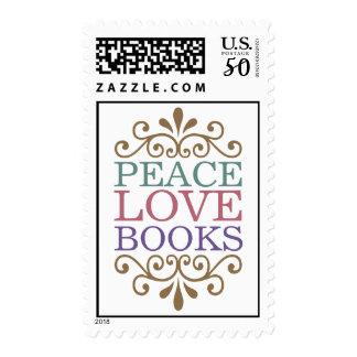 Elegant Peace, Love, Books Postage