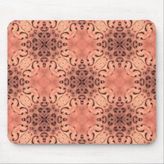 Elegant peach kaleidoscope mouse pad
