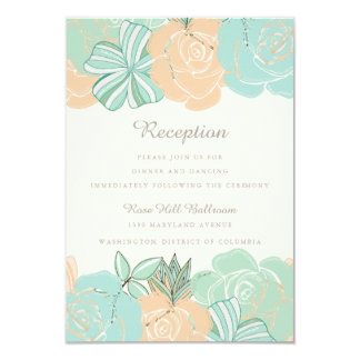 Mint And Peach Wedding Invitations Announcements Zazzle
