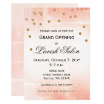 Elegant Peach Pink Corporate Party Invitation