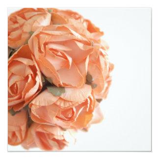 Elegant Peach Roses Bachelorette Party Invitation