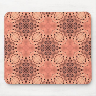 Elegant peach tones baroque mouse pad