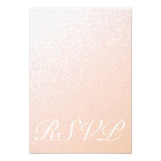 Elegant Peachy Pink Sparkle RSVP